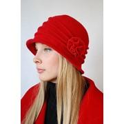 Шляпа женская с розой красная фото