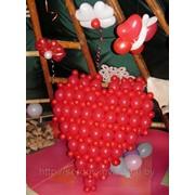 Оформление воздушными шарами дня святого Валентина фото