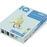 Бумага цветная iq color A4, 80г/м2, bl29-светло-голубой 500л. BL29-80 фото