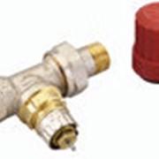 Корпус клапана RА-N-25 для двухтрубной системы отопления, Тмакс = 120°С, dРмакс = 0.6 бар, Ру = 10 бар, угловой, никелированный фото