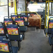 Реклама на подголовниках в маршрутных такси от Lucky фото