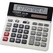 Калькулятор настольный 12 разрядный Citizen SDC 368 фото