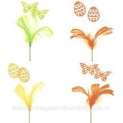 Изделие декоративное (вставка) Бабочки, L10 W10 H35 см, (4 вида - не набор) фото