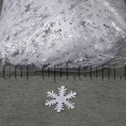 Фетровые заготовки-снежинки белые 4 см 1000 шт 570209 фото