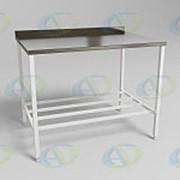 Стол технологический МСК - 680.060.01 столешница с бортиком, четыре стяжки фото