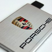 Флешка кредитка металлическая, флешка визитка фото