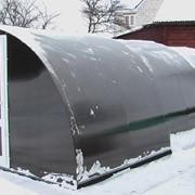 Павильон с раздвижной крышей фото