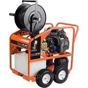 Бензиновая каналопромывочная машина JМ-3080 на тележке фото