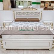 Кровать Пальмира (белая эмаль с золотой патиной) фото