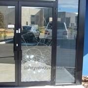 Бронирование стекол, класс защиты А2 фото