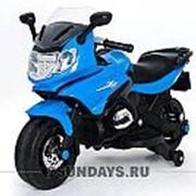 Детский электромотоцикл MOTO M444MM синий фото