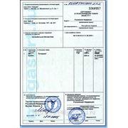 Сертификат проиcхождения фото