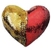 Декоративная подушка с пайетками 40х35, Magic Shine, Сердце фото