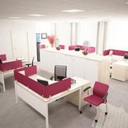 3D визуализация офисного интерьера, выполнение визуализации дизайна интерьеров помещений фото