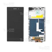 Матрица и тачскрин (сенсорное стекло) в сборе для смартфона Sony Xperia Z1 L39H, белый фото