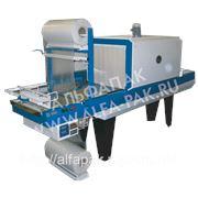 Альфапак-550РТ термоусадочный полуавтомат упаковки в полиэтилен. фото