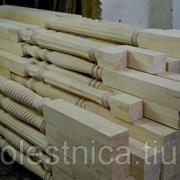 Деревянные точеные колонны фото