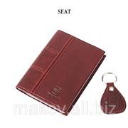 Обложка для водительского удостоверения с брелком SEAT, 065-07-10К фото