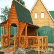Строительство деревянных домов из рубленого бревна фото