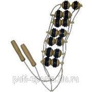 Массажёр для спины с резиной (9 рядов роликов) фото