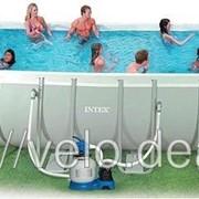 Бассейн каркасный Intex 28364 (54980) Rectangular Ultra Frame Pool ,732х366х132см фото