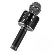 Беспроводной Bluetooth караоке микрофон HIFI Wster WS-858 черный фото