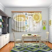 """Шторы для кухни """"Чай с лимоном"""" фото"""