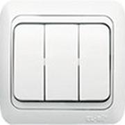 Выключатель TUNA 3-й белый (без вставки) 502-0200-254 фото