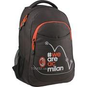Рюкзак молодежный Kite A.C.Milan ML15-8201L.Размер L для подростков и взрослых ростом 145-175см 29679 фото
