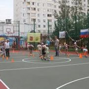 Ремонт уличных спортивных площадок. фото