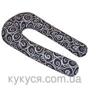 U-образная подушка для беременных Завитушки фото