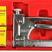 Пистолет Stayer Profi скобозабивной регулируемый, в пластиковом боксе в наборе со скобами, Код:3150-H4 фото