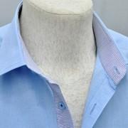 Сорочка мужская из льна (короткий рукав) фото
