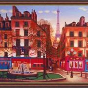 """Схема для частичной вышивки бисером - """"Вечерний Париж"""" фото"""