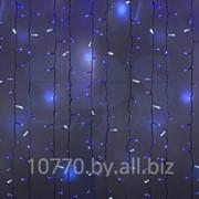 """Гирлянда """"Светодиодный Дождь"""" 2х1,5м, эффект мерцания, белый провод, 220В, диоды СИНИЕ, NEON-NIGHT фото"""