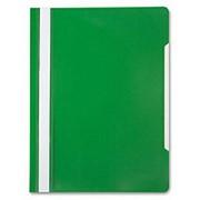 """Папка-скоросшиватель А4 Бюрократ """"Премиум"""", пластиковая, с боковым прижимом, цвет зеленый 816299 фото"""