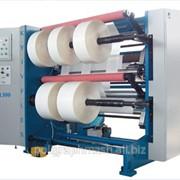 Бобинорезальная машина 2ПР-1300 для продольной резки рулонов полимерной пленки, бумаги, ламинированных изделий, алюминиевой фольги с последующей намоткой в рулоны (бобины). фото