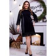 Коктейльное черное платье 7849 фото