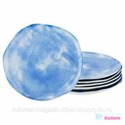 Набор Тарелок Десертных Из 6 Шт., диаметр 26 См. Коллекция Парадиз Цвет: Голубая Лагуна фото