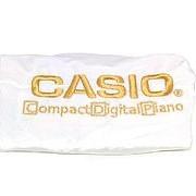 """Накидка бархатная """"антипыль"""" для цифрового пианино Casio CDP 88 клавиш, белая фото"""
