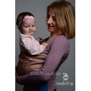 Слинг с кольцами для новорожденных и старше тм Наш слинг Капучино сатиновый фото
