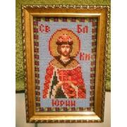Иконы вышитые бисером, Икона Св.Юрий фото