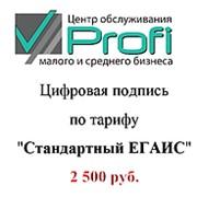 Электронно-цифровая подпись (ЭЦП) Стандартный ЕГАИС фото