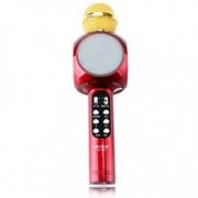 Беспроводной караоке микрофон со встроенной колонкой Wster WS-1816 (Красный) фото