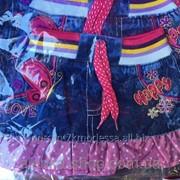 Детская джинсовая юбка на 1-4 года, код товара 254040845 фото