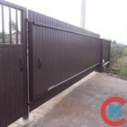 Ворота откатные с калиткой серия 1.435.9-36.93 фото