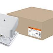 Коробка распаячная КР 50х50х20 ОП с клем. колодкой белая IP40 TDM фото