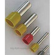 Наконечник штыревой НШВИ(2) 6.0-14 желтый 2х6.0мм2, втулочный изолированный фото