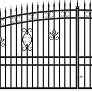 Металлические ворота с калиткой фото