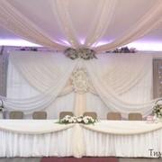 Оформление свадьбы, выездная регистрация, аренда чехлов, банты, скатерти, салфетки. фото